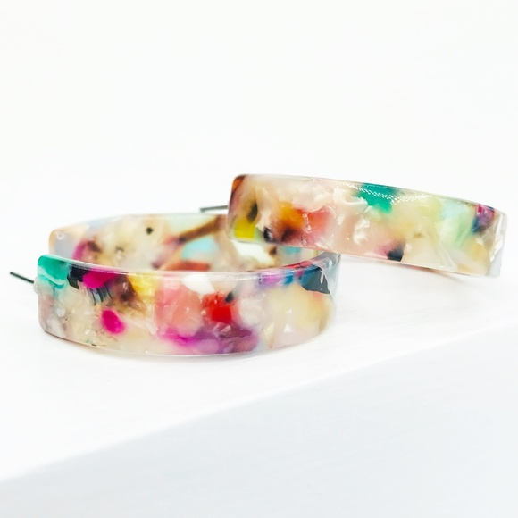 CLOSET REHAB Jewelry - Multicolor Hoop Earrings